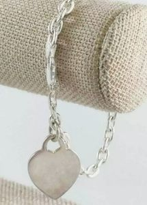 .925 STERLING SILVER LINK CHAIN W HEART PENDANT ❤